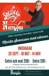 26/9 Standup på Norrehus - Standup på Norrehus inkl mat