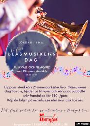 18/5 Blåsmusikens Dag med buffé & filmquiz