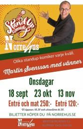 18/9  Standup på Norrehus - Standup på Norrehus inkl mat