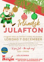 Irländsk julafton+julbord 7 dec -