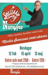 12/2 Standup på Norre - 12/2   Standup på Norre entré  EJ MAT