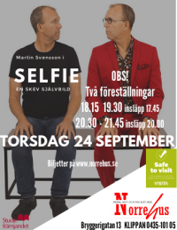 24/9 SELFIE - en skev självbild - SELFIE - Show 2, 20.30 - 21.45