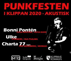 28/11 Punkfest i Klippan 2020 - akustisk - 4 pers bord inkl mat & entré 4 personer