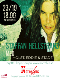 23/10 Staffan Hellstrand MAT+entré - Ett 2 pers bord inkl 2 st mat inkl entré