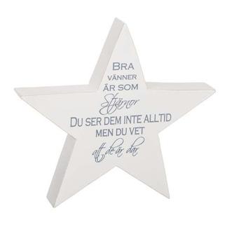 Stjärna med text, 17 cm