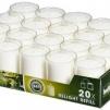 Refilljus - Helt flak vita ljus 20st