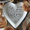 Kärlek & Fika - Hjärta - Svart text