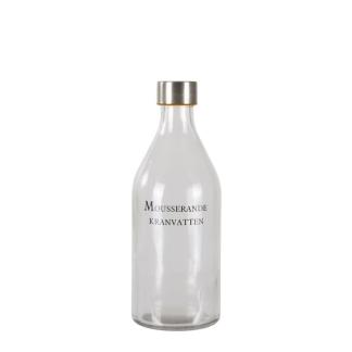 Glasflaska - Mousserande kranvatten