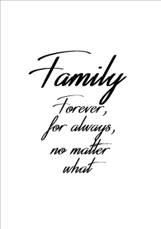Print - Family forever for always...