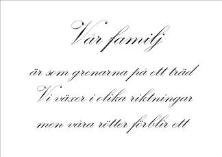 Print - Vår familj...