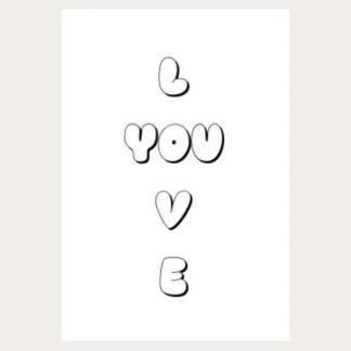 Print - Love You