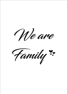 Print - We are Family