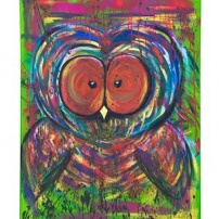 Colorful Owl - Gicleétryck