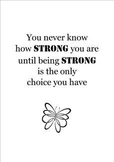 Print - You never know how strong...