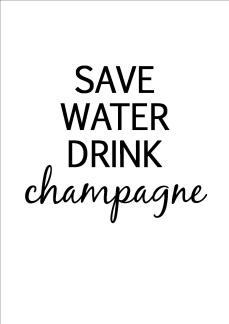 Print - Save water drink...