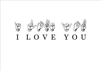 Print - I love you