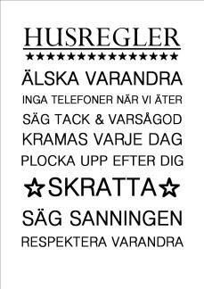Print - Husregler nr. 2
