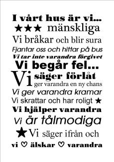 Print - Husregler nr. 1