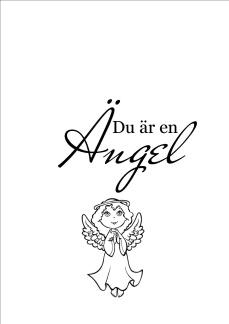 Print - Du är en ängel