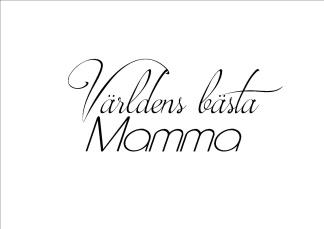 Print - Världens Bästa Mamma