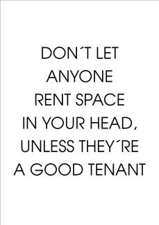 Print - Don´t let anyone rent...