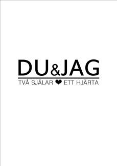 Print - Du & Jag - A4 svart hjärta