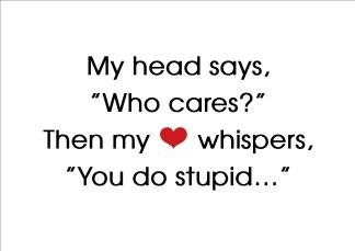Print - My head says...