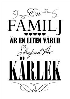 Print - En familj är en liten värld...