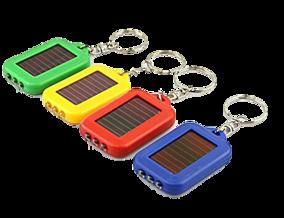 Solcellsficklampa på Nyckelring - Blå