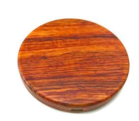Trådlös Laddplatta Bambu/Trä - Laddplatta förpackningsfri