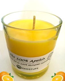Handgjorda Ekologiska Sojaljus - Apelsin 100% Eko 315g