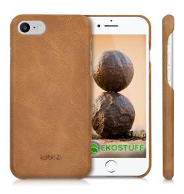 Mobilskal i Äkta Läder / Eko-Läder - iPhone 7 & 8 Kalibri Natur