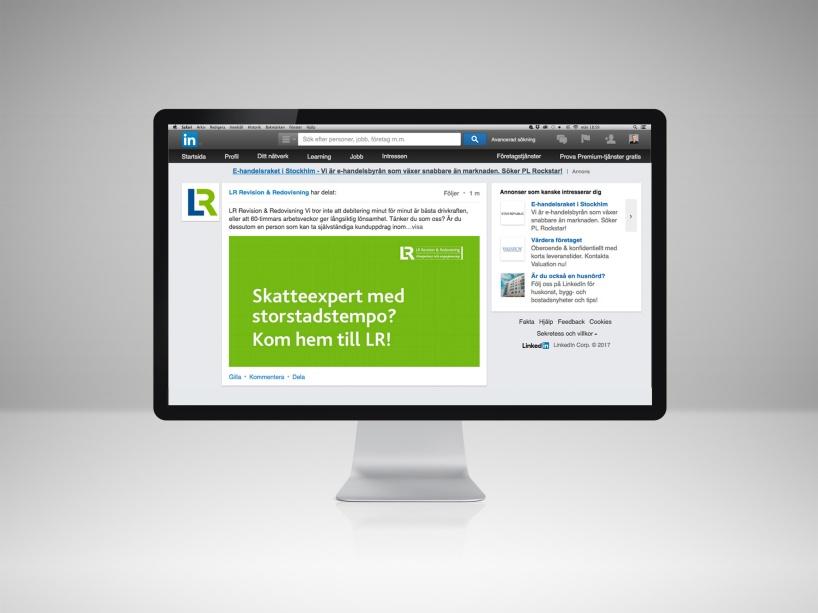 Relationsbyggande varumärkes- och rekryteringskampanj på LinkedIn.