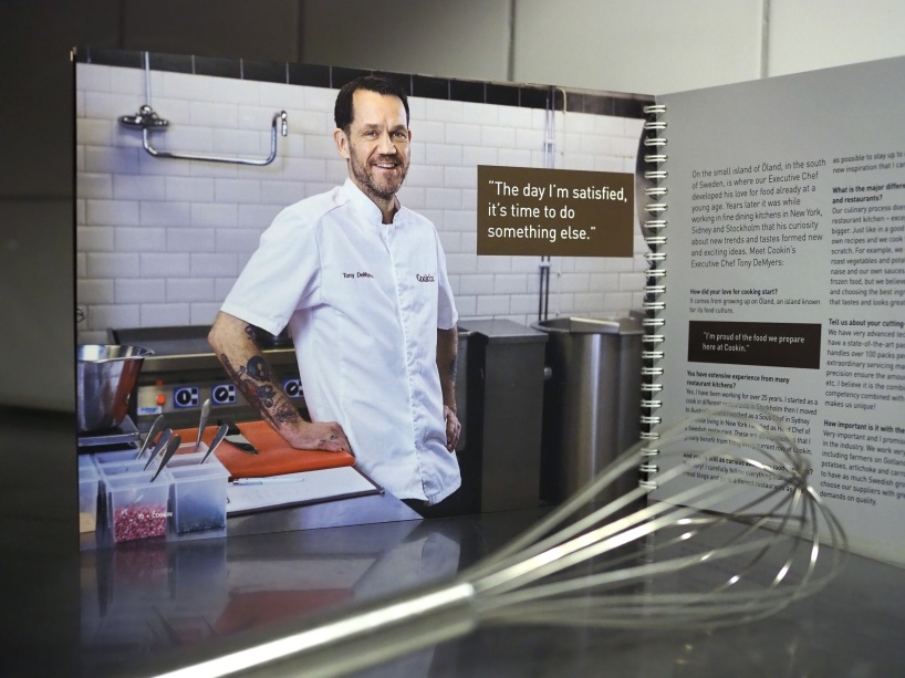Inte en kokbok men en företagspresentation för Cookin Food.