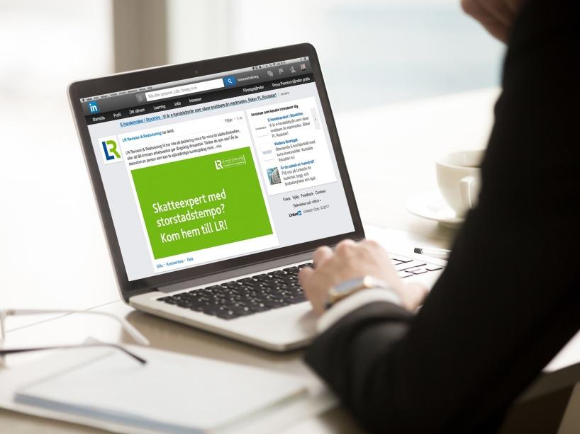 Relationsbyggande varumärkes- och rekryteringskampanj på LinkedIn för LR Revision & Redovisning.