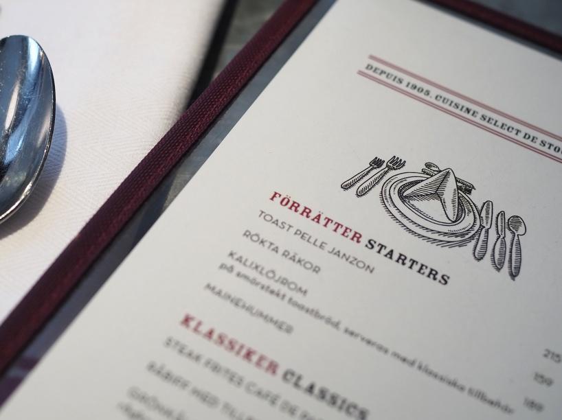 Låt blicken svepa genom historien. Vidareutveckling av grafiska designen för klassiska restaurangen Mäster Anders.