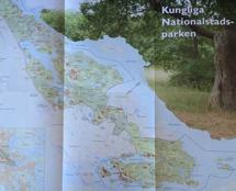 Klicka för större bild. Karta från den fina boken Kungliga Nationalstadsparken - historiskt landskap i levande stad