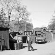 Östermalms Skrotlager i kvarteret Fältöversten. Foto: Stockholmskällan