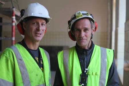 Klätterverket Norra Djurgårdsstaden.  Byggledare och ägare Trevor Cooper-Williams och Henrik Bolander.