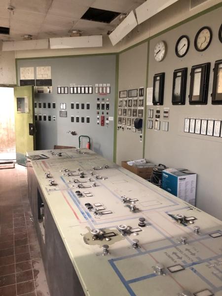 Klätterverket Norra Djurgårdsstaden. Härifrån styrdes all produktion av gas.
