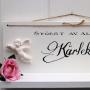 Romantisk handtextad ljushylla