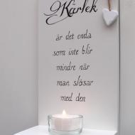Handtextad ljushylla