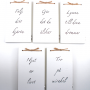5 st handtextade minibrädor - 5 st handtextade minibrädor