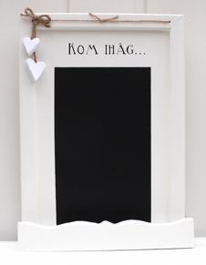 Romantisk griffeltavla med handmålad text - Romantisk griffeltavla