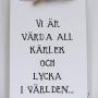 Romantisk liten handtextad bräda