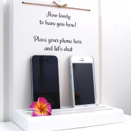 Mobilhylla engelsk text/Smartphone Stand English