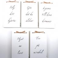 5 st handtextade minibrädor