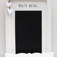 Romantisk griffeltavla med handmålad text