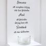 Dekorativ handtextad ljushylla - Ge mig sinnesro...