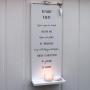 Family Rules - handtextad ljushylla